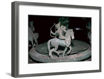 Detail of an Etruscan bronze of an Amazon archer, 6th century BC. Artist: Unknown-Unknown-Framed Giclee Print