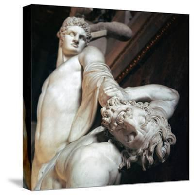 Perseus fights with the centaur. Artist: Unknown-Unknown-Stretched Canvas Print