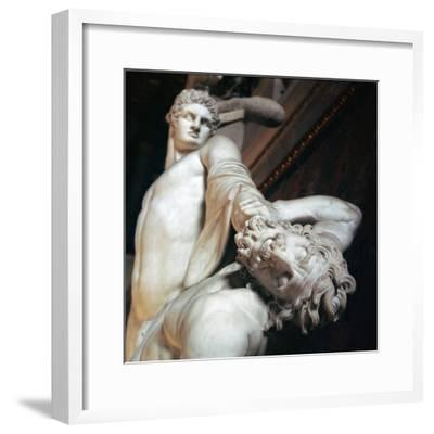 Perseus fights with the centaur. Artist: Unknown-Unknown-Framed Giclee Print