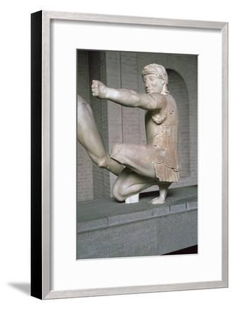 Herakles from the Greek temple of Aphaia at Aegina, 6th century BC. Artist: Unknown-Unknown-Framed Giclee Print