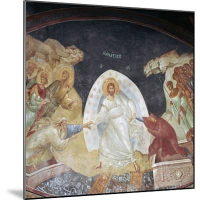The Resurrection in the church of St Saviour in Chora, 14th century. Artist: Unknown-Unknown-Mounted Giclee Print