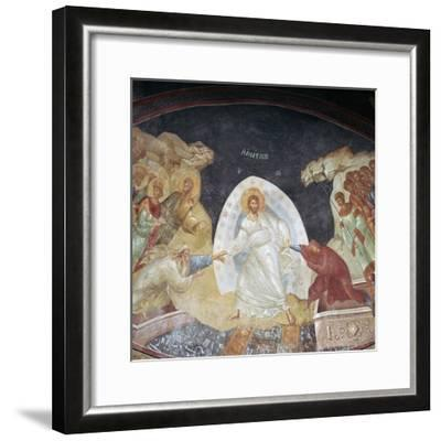 The Resurrection in the church of St Saviour in Chora, 14th century. Artist: Unknown-Unknown-Framed Giclee Print