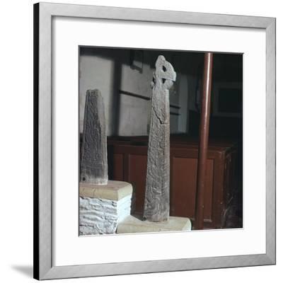 Thorleif Hmakki's cross at Braddan on the Isle of Man. Artist: Unknown-Unknown-Framed Photographic Print