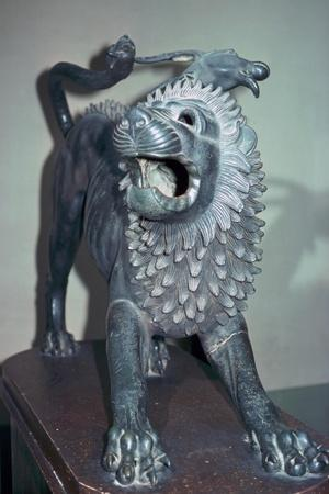 Etruscan bronze of a chimera. Artist: Unknown-Unknown-Framed Giclee Print
