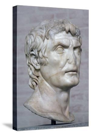 Bust of the Roman republican general Marius, 2nd century. Artist: Unknown-Unknown-Stretched Canvas Print