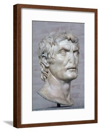 Bust of the Roman republican general Marius, 2nd century. Artist: Unknown-Unknown-Framed Giclee Print