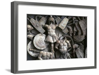 Roman relief of the trophies of war, 2nd century. Artist: Unknown-Unknown-Framed Giclee Print