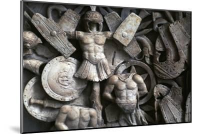 Roman relief of the trophies of war, 2nd century. Artist: Unknown-Unknown-Mounted Giclee Print