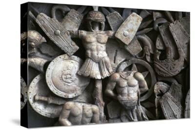 Roman relief of the trophies of war, 2nd century. Artist: Unknown-Unknown-Stretched Canvas Print