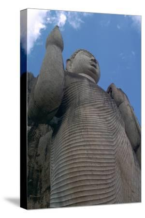 Awkana Buddha, a colossal statue. Artist: Unknown-Unknown-Stretched Canvas Print