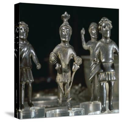 Romano-British bronze statuette of Mars, 3rd century. Artist: Unknown-Unknown-Stretched Canvas Print