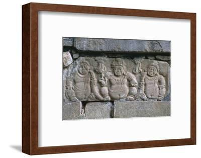 Dwarf figures on a building in the Buddhist city of Anuradhapura. Artist: Unknown-Unknown-Framed Photographic Print