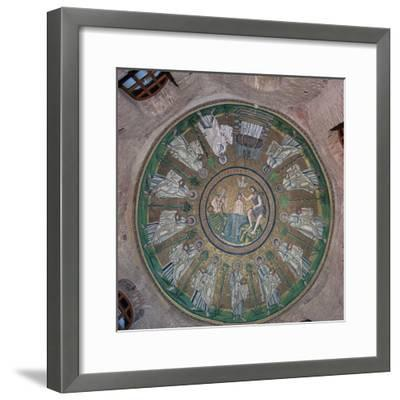 Mosaic in the dome of the Bapistry of the Arians, 5th century. Artist: Unknown-Unknown-Framed Giclee Print