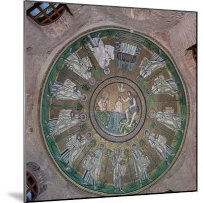Mosaic in the dome of the Bapistry of the Arians, 5th century. Artist: Unknown-Unknown-Mounted Giclee Print