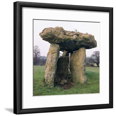 St Lythan's burial chamber. Artist: Unknown-Unknown-Framed Photographic Print