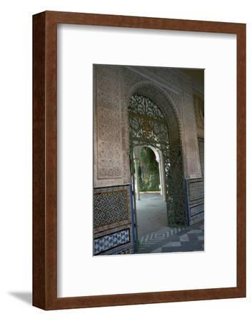 View of the garden of the Casa di Pilatos, 15th century. Artist: Unknown-Unknown-Framed Photographic Print