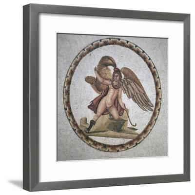 Roman mosaic of Ganymede and Zeus, 3rd century. Artist: Unknown-Unknown-Framed Giclee Print