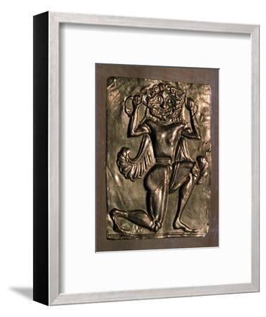 Archaic Greek gold plaque of a running gorgon, 7th century BC. Artist: Unknown-Unknown-Framed Giclee Print