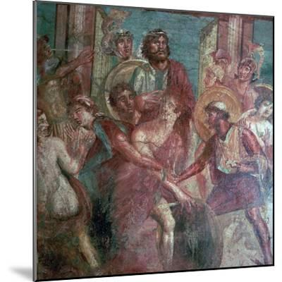 Roman wall-painting from the House of the Dioscuri in Pompeii, 1st centruy. Artist: Unknown-Unknown-Mounted Giclee Print