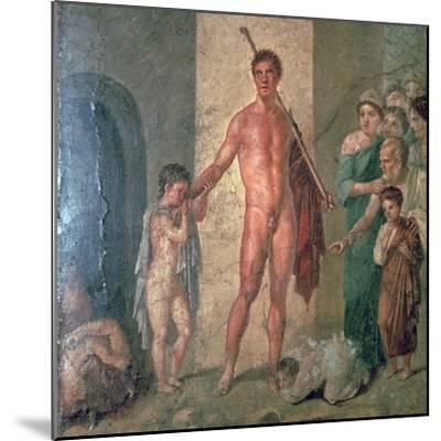 Roman wall-painting of Theseus after killing the Minotaur, 1st century. Artist: Unknown-Unknown-Mounted Giclee Print