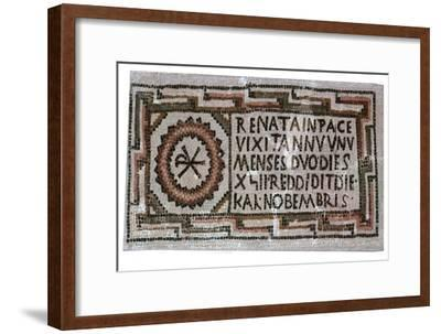 Early Christian mosaic, 4th century. Artist: Unknown-Unknown-Framed Giclee Print