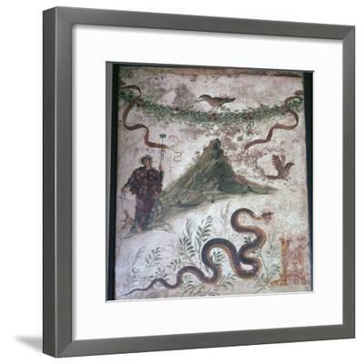 Roman wall-painting from Pompeii showing Vesuvius, 1st century. Artist: Unknown-Unknown-Framed Giclee Print