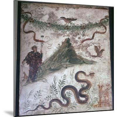 Roman wall-painting from Pompeii showing Vesuvius, 1st century. Artist: Unknown-Unknown-Mounted Giclee Print