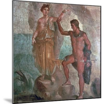 Roman wall-painting from the House of the Dioscuri in Pompeii, 1st century. Artist: Unknown-Unknown-Mounted Giclee Print