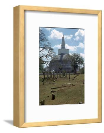 Ruvanvaliseya at Anuradhapura, 2nd century. Artist: Unknown-Unknown-Framed Photographic Print