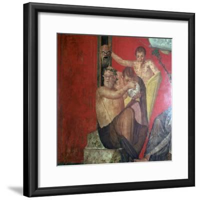 Wall-paintings in the Villa of the Mysteries, Pompeii, 1st century. Artist: Unknown-Unknown-Framed Giclee Print