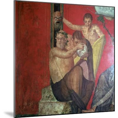 Wall-paintings in the Villa of the Mysteries, Pompeii, 1st century. Artist: Unknown-Unknown-Mounted Giclee Print
