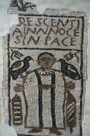 Early Christian funerary mosaic, 4th century. Artist: Unknown-Unknown-Framed Giclee Print