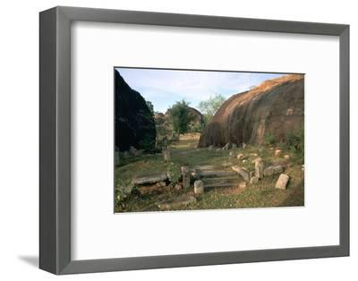 Ascetic rock-shelters for Buddhist monks in Anuradaphura, 2nd century BC. Artist: Unknown-Unknown-Framed Photographic Print