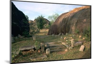 Ascetic rock-shelters for Buddhist monks in Anuradaphura, 2nd century BC. Artist: Unknown-Unknown-Mounted Photographic Print