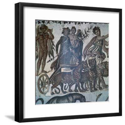 Roman mosaic showing the 'Triumph of Bacchus', 3rd century. Artist: Unknown-Unknown-Framed Giclee Print