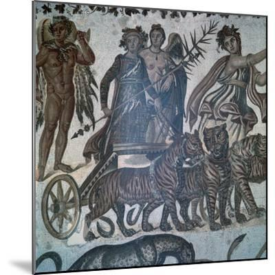 Roman mosaic showing the 'Triumph of Bacchus', 3rd century. Artist: Unknown-Unknown-Mounted Giclee Print