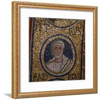 Mosaic detail showing St Peter, 5th century. Artist: Unknown-Unknown-Framed Giclee Print