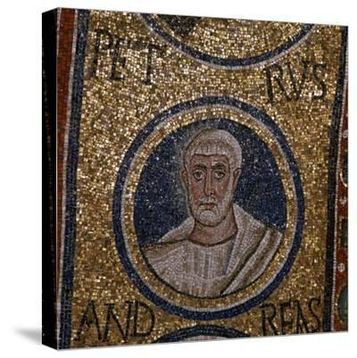 Mosaic detail showing St Peter, 5th century. Artist: Unknown-Unknown-Stretched Canvas Print