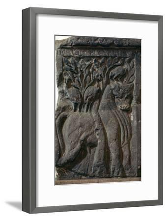 Depiction of a Celtic deity, a bull with three cranes, 1st century. Artist: Unknown-Unknown-Framed Giclee Print