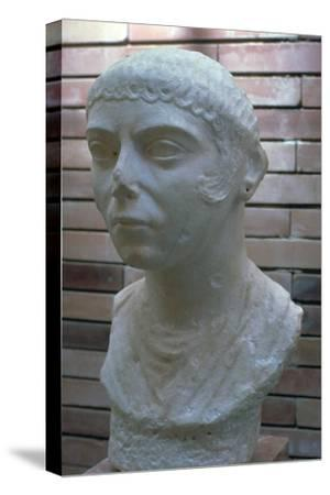 Roman bust of a woman, 1st century. Artist: Unknown-Unknown-Stretched Canvas Print