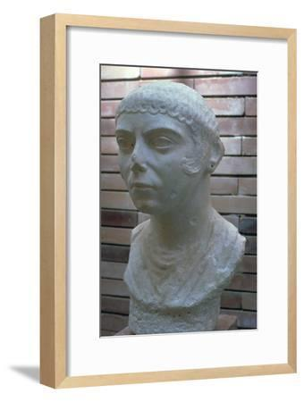 Roman bust of a woman, 1st century. Artist: Unknown-Unknown-Framed Giclee Print