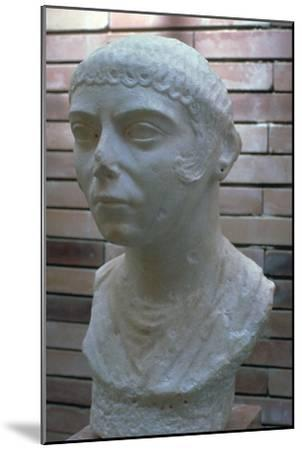 Roman bust of a woman, 1st century. Artist: Unknown-Unknown-Mounted Giclee Print