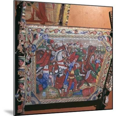 Depiction of the battle of Capua in 1501 on a painted cart, 16th century. Artist: Unknown-Unknown-Mounted Giclee Print