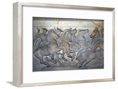 Detail from a Lycian sarcophagus of a boar hunt, 5th century BC. Artist: Unknown-Unknown-Framed Giclee Print