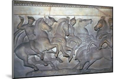 Detail from a Lycian sarcophagus of a boar hunt, 5th century BC. Artist: Unknown-Unknown-Mounted Giclee Print