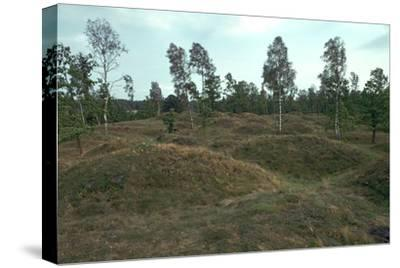Iron Age burial mounds in Sweden. Artist: Unknown-Unknown-Stretched Canvas Print