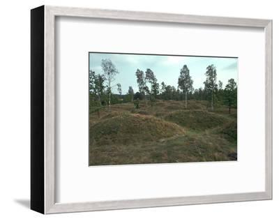 Iron Age burial mounds in Sweden. Artist: Unknown-Unknown-Framed Photographic Print