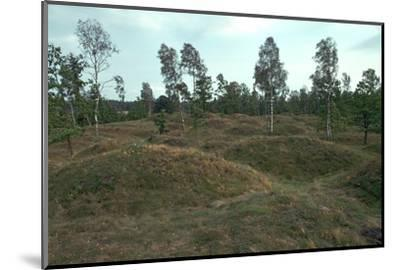 Iron Age burial mounds in Sweden. Artist: Unknown-Unknown-Mounted Photographic Print