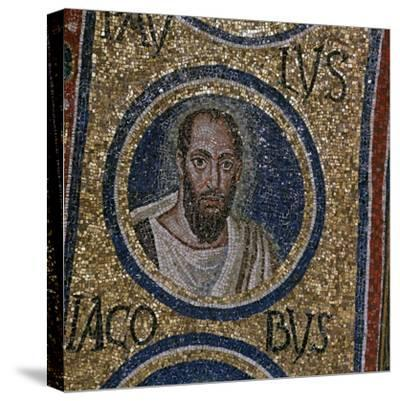 Mosaic detail showing St Paul, 5th century. Artist: Unknown-Unknown-Stretched Canvas Print