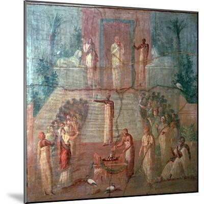 Roman wall-painting of Priests of Isis worshipping, 1st century. Artist: Unknown-Unknown-Mounted Giclee Print